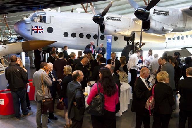Our aircraft collection will provide a stunning backdrop to your drinks reception