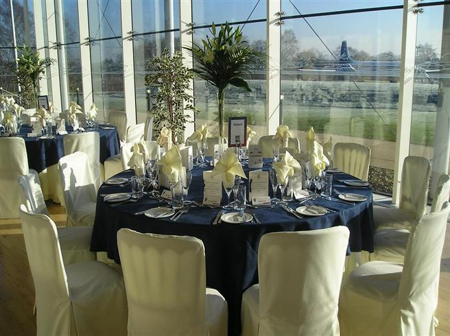 Classic gala dinner setting in the Visitor Centre