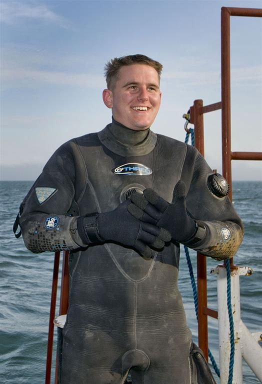 Member of the Seatech Diving team.