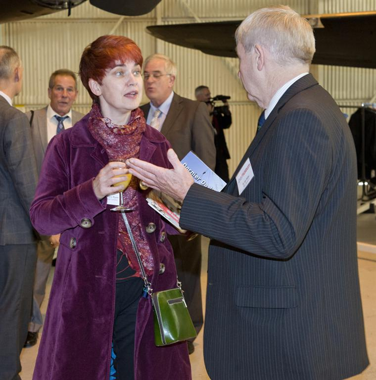 Guests including Professor Mary Ryan from Imperial College London