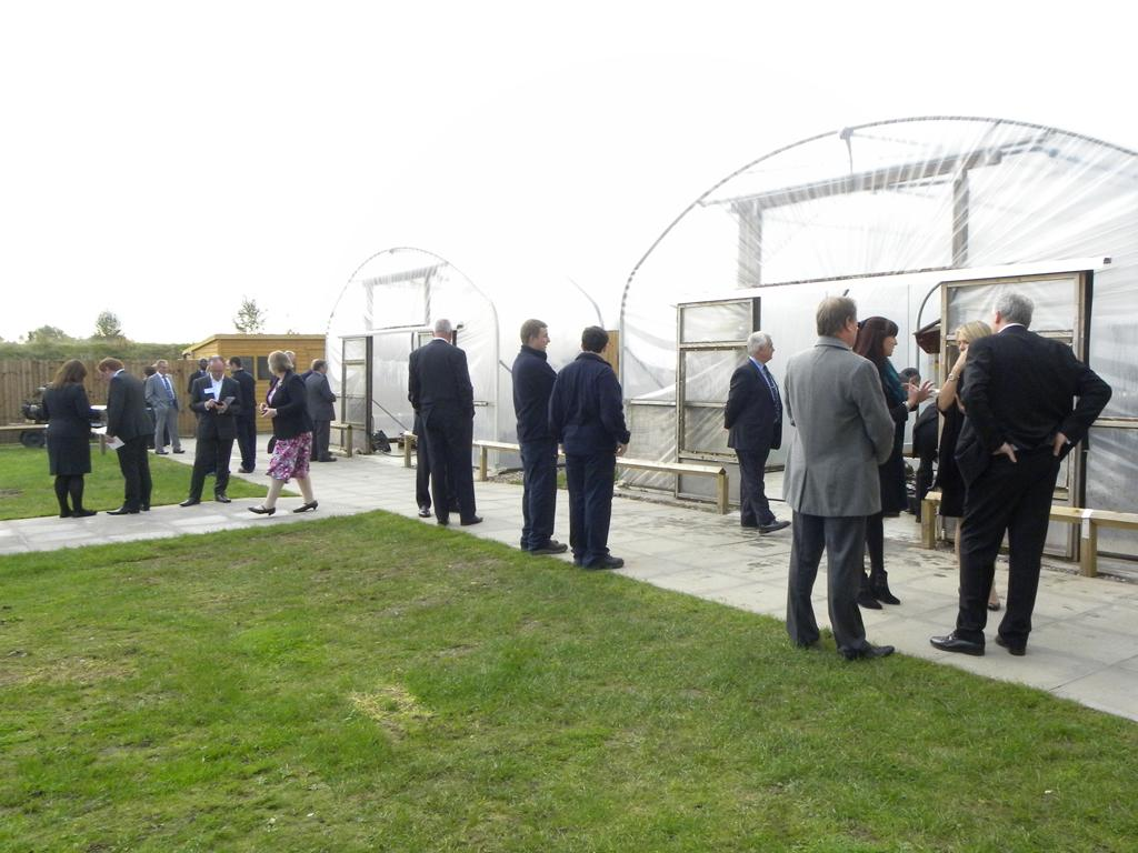 Guests viewing aircraft in hydration tunnels