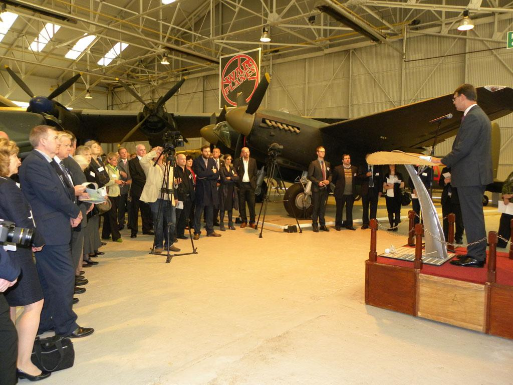 Peter Dye, Director General welcomes guests to Cosford