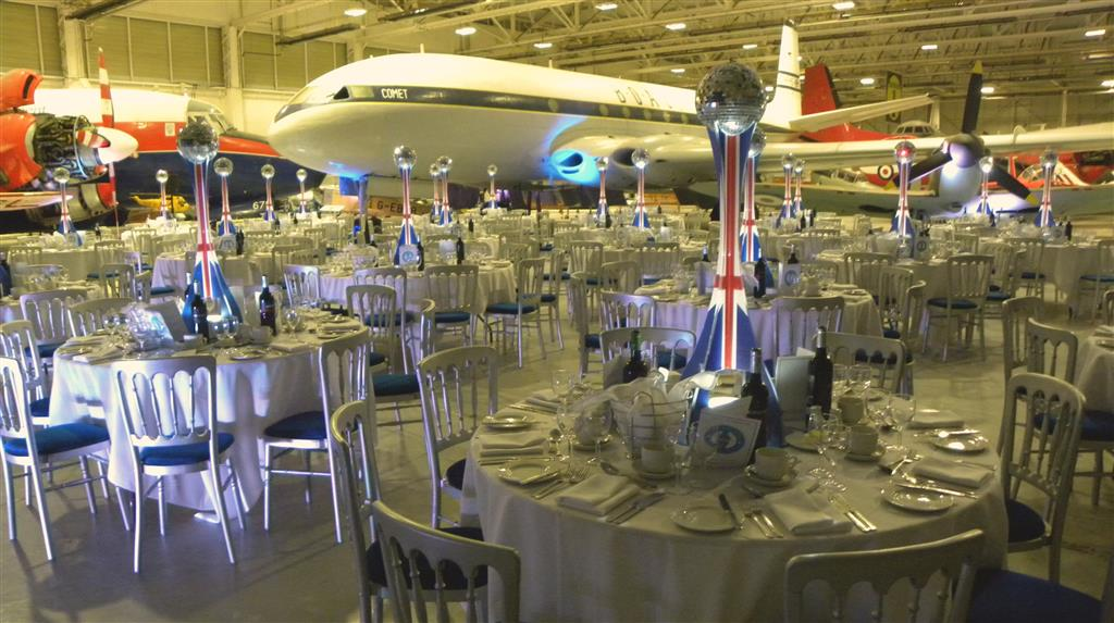 Themed gala dinners look great in Hangar 1