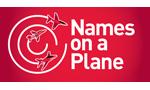 The Names on a plane logo