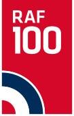 The RAF 100 logo