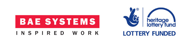 The BAE Systems and Heritage Lottery Fund logos