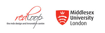 Red Loop & Middlesex University logos