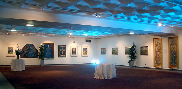 Our Art Gallery is ideal for receptions
