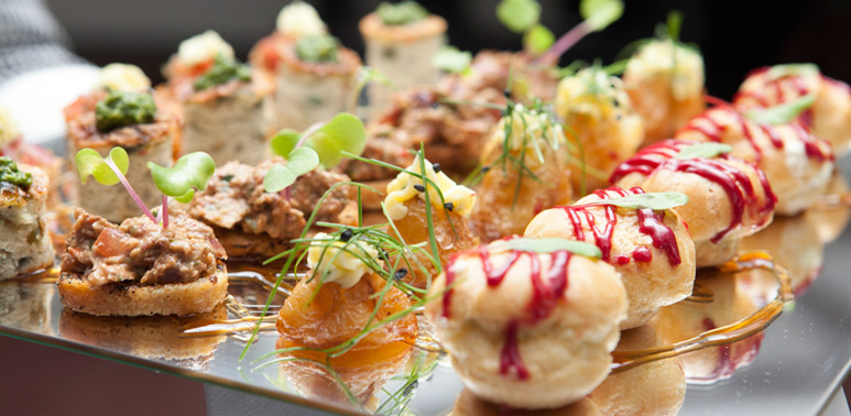 We can offer a range of catering options from canapes to bowl food to silver service menus