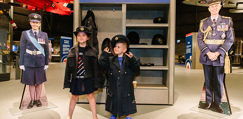 The RAF uniform at the 'Meet the RAF' exhibition