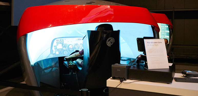 Our Pilot Zone Simulator in Hangar 1