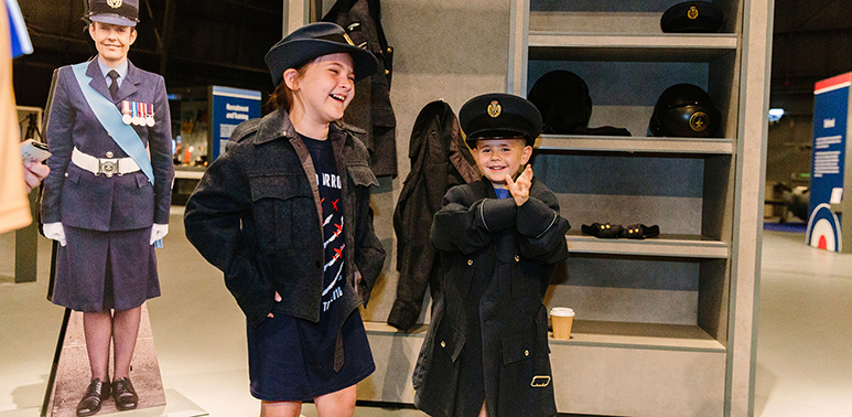 Young Visitor in our 'RAF Stories: The First 100 Years 1918-2018' exhibition