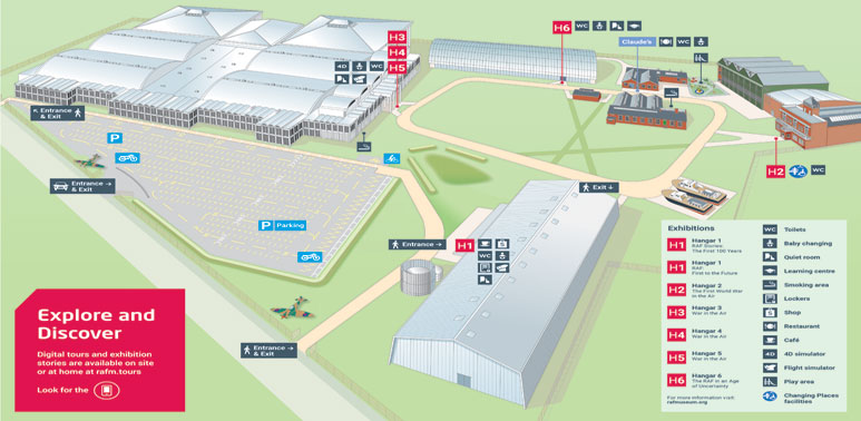 An aerial map of our London site