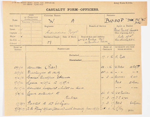 Personal First World War archive shared online by RAF Museum