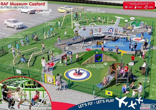 An artist's impression of what our new playground will look like