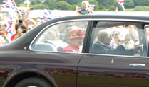 HRH HM The Queen at Cosford with the Duke of Edinburgh