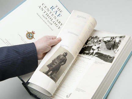 The interior of the RAF Centenary Anthology