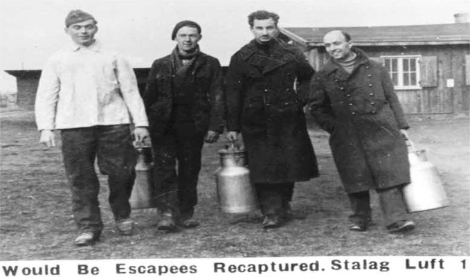 Would be escapees held prisoner in Stalag Luft I