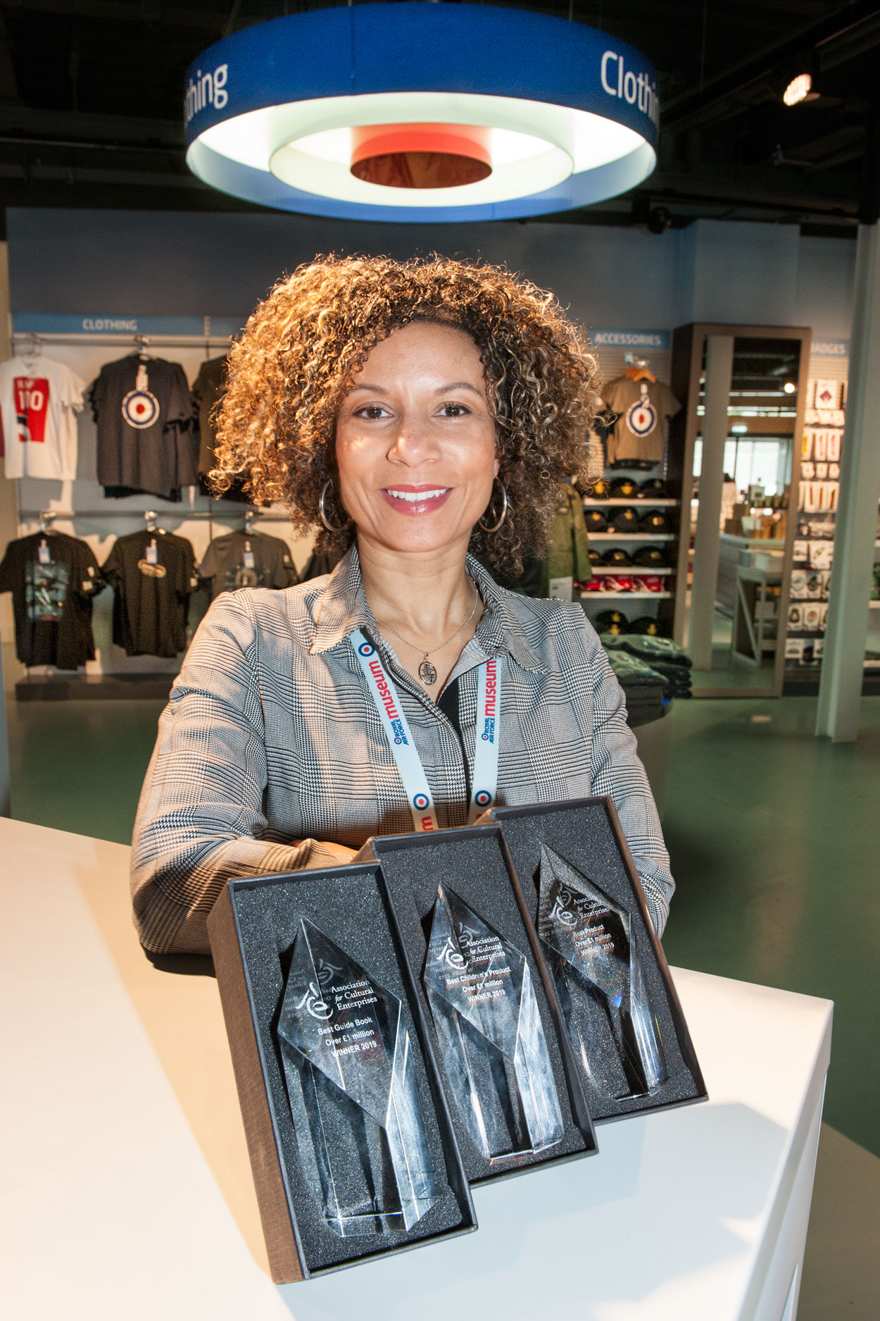 Head of Retail, Frances Galvan with our Awards