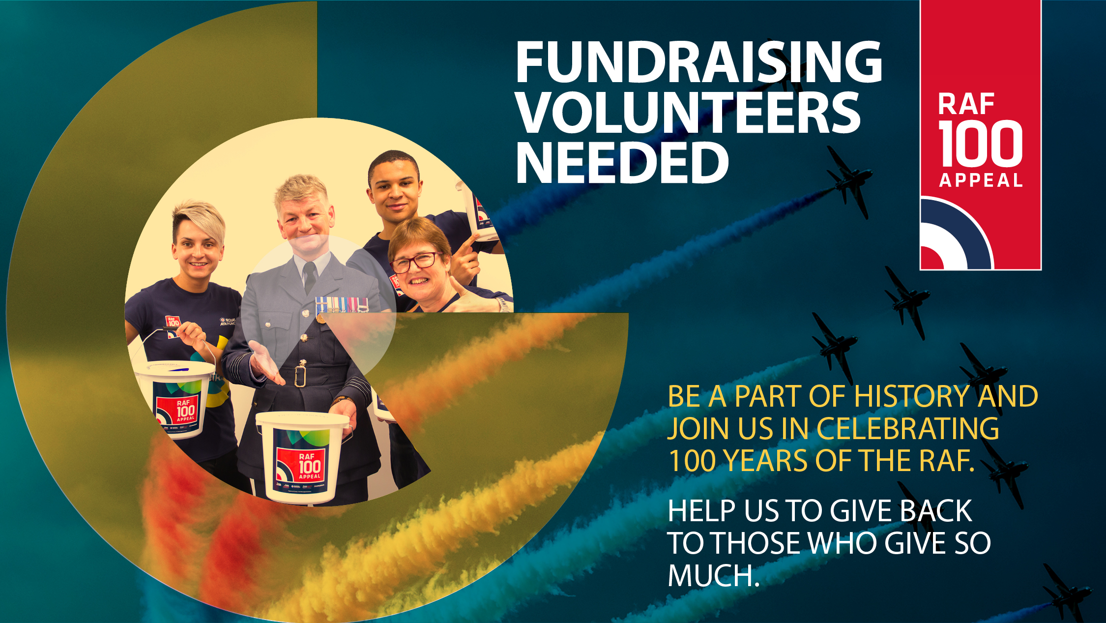 Volunteer for the RAF100 Appeal and be at the heart of the historic RAF100 events