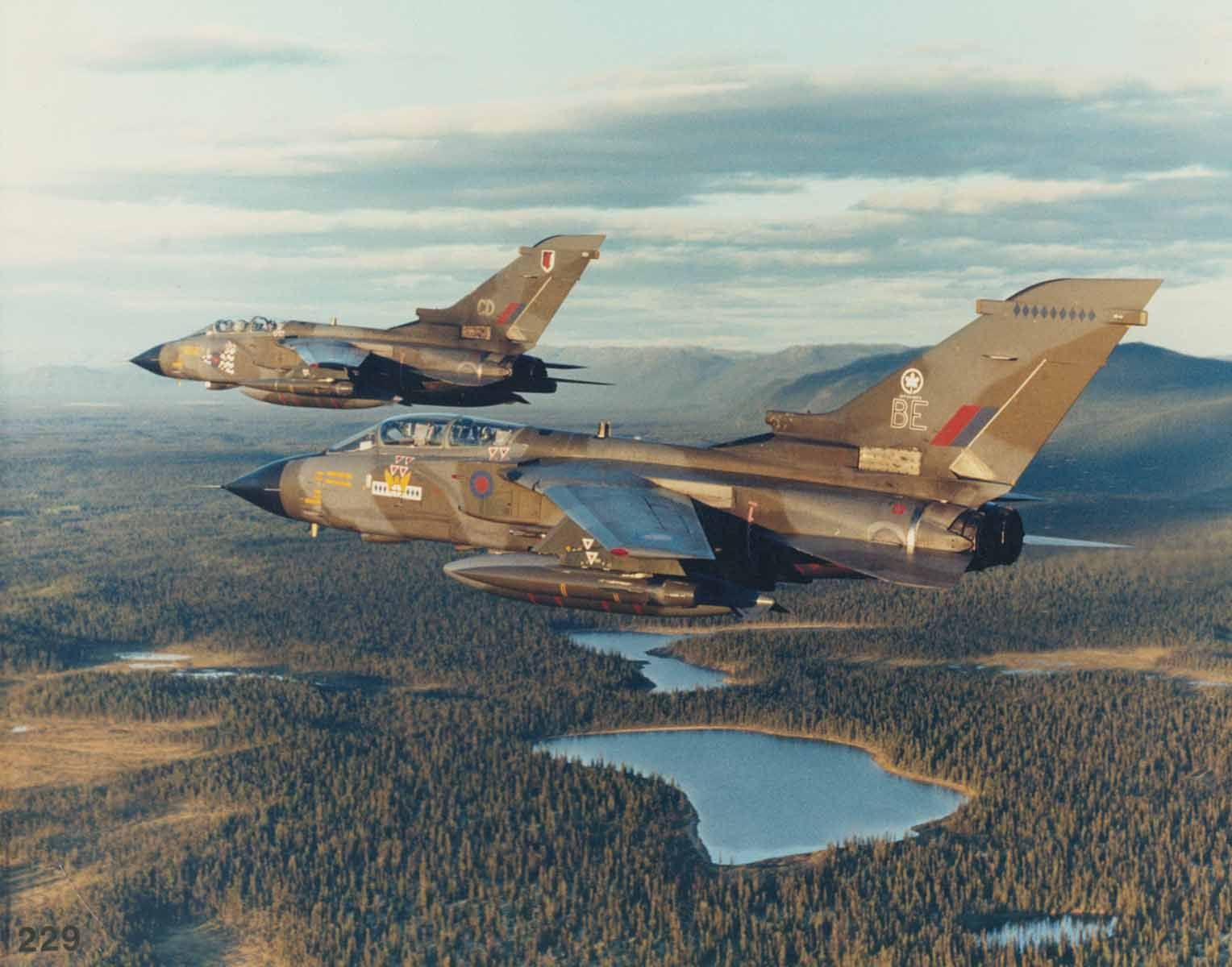 Two Panavia Tornados over Canada on Exercise Maple Flag