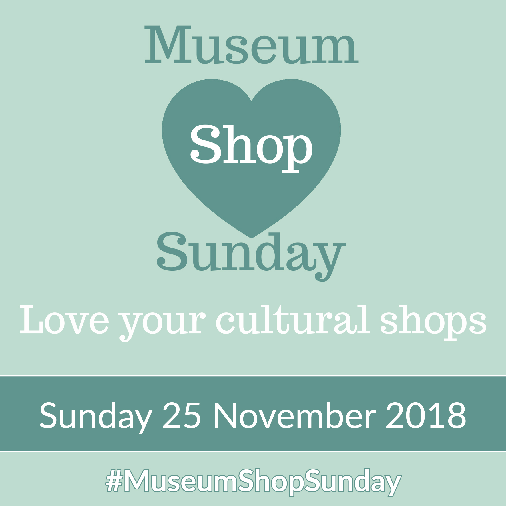 25 November is Museum Shop Sunday