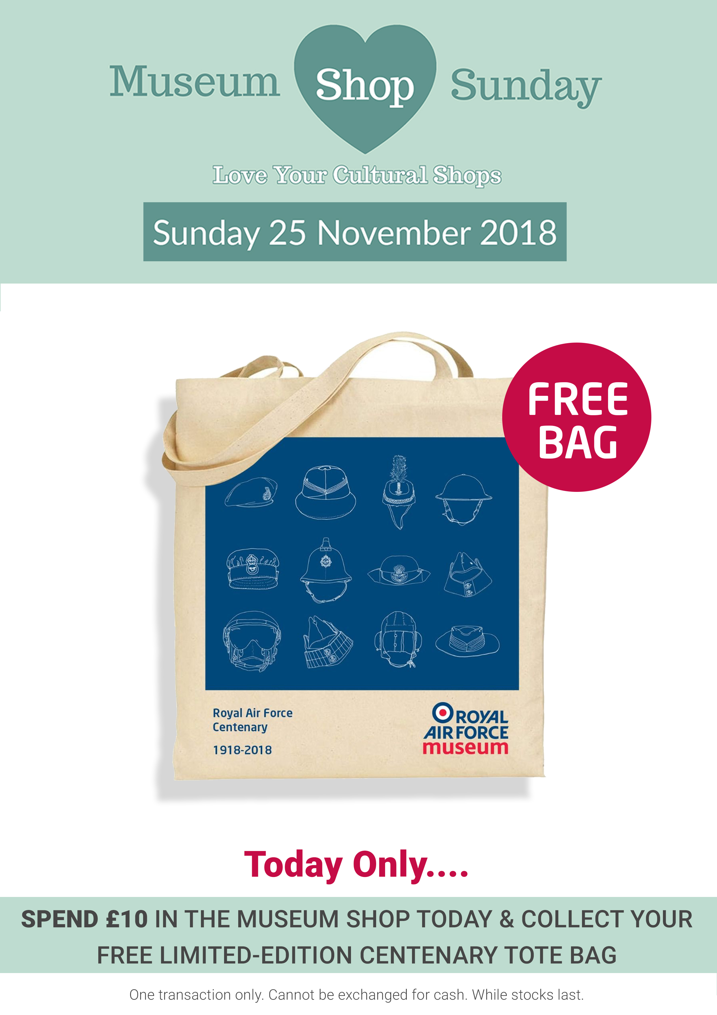 Our Museum Shop Sunday Offer at both London and Cosford