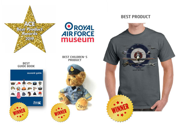 Images of the items that won for Best Guide Book, Best Children's Product and Best Product