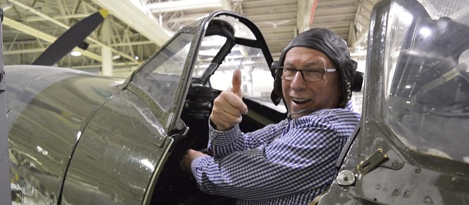 Ken Bruce from BBC Radio 2 at RAF Museum