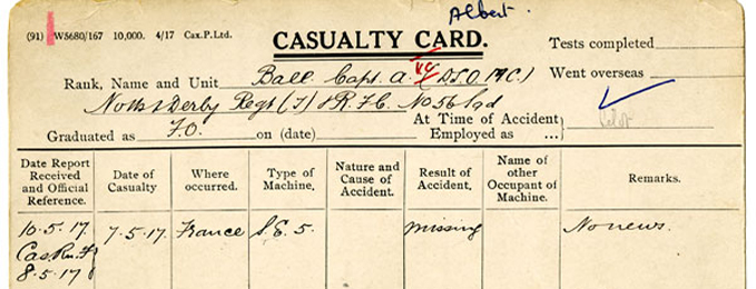 Examine 300,000 WW1 Records Online