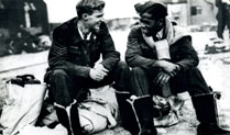 Air gunners Sergeant J.C. Dickinson RCAF and Sergeant Leslie Gilkes, 9 Squadron, 1943