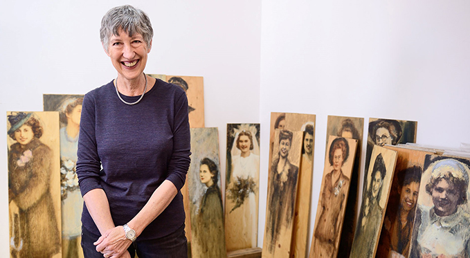 War Brides, a brand-new art exhibition by Bev Tosh at the RAF Museum London