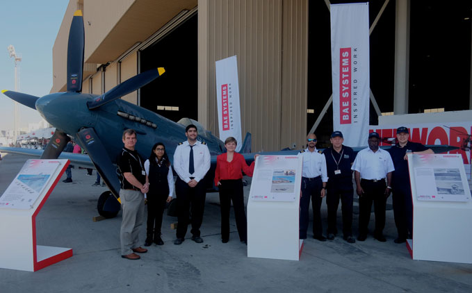 Staff from the Royal Air Force Museum together with Bahraini Apprentices