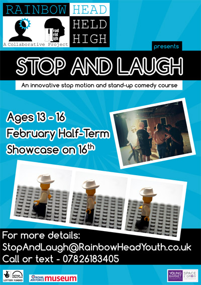 Stop and laugh our motivational courses for young people during February Half Term