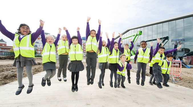 Year One Students of Colindale Primary School, giving their opinion of their visit