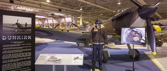 The display in the Museum's Historic Hangars