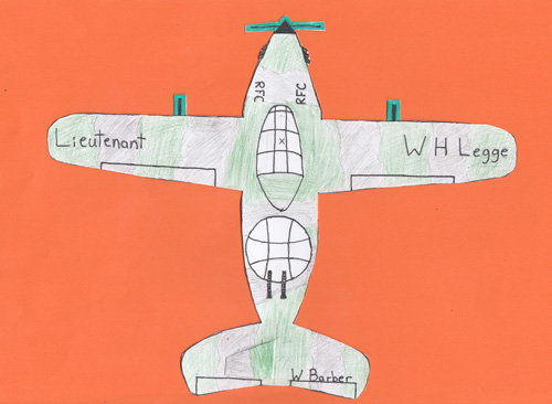 One of the aircraft created by school-children honouring a Royal Flying Corps or RAF airman who died in battle during the First World War.