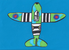 Just one of the aircraft created by children honouring those who died fighting the First World War in the Air