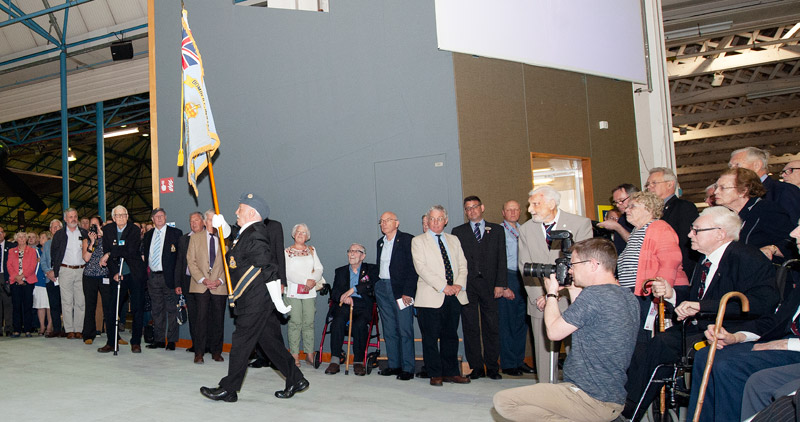 The Presentation of the Bomber Command Association National Standard in Hangar 5