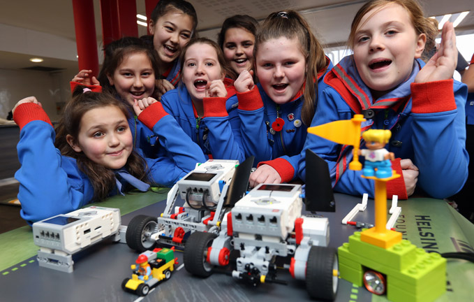 Future female Engineers taking part in the challenge