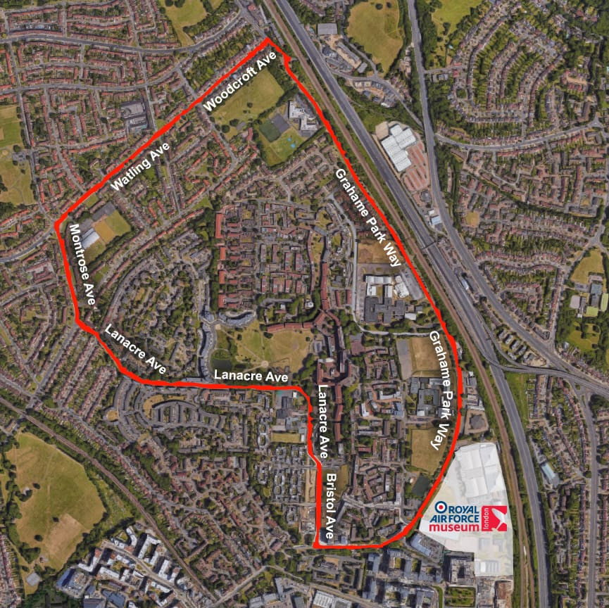 The route for Spitfire 10K Run outside of the Museum