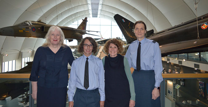 From Left to Right: Caroline Paige, Danny Holt, Maggie Appleton (Museum CEO) and Squadron Leader Catherine Lawson