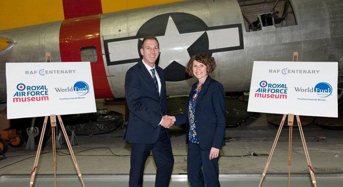 Museum CEO Maggie Appleton with World Fuel Service's Vice President of Commercial Development Mark Amor