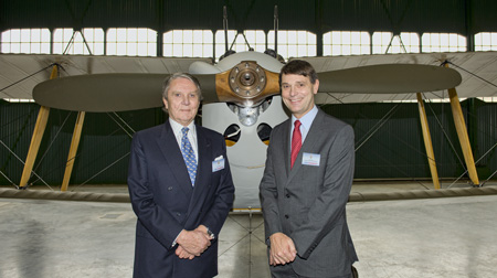 Tommy Sopwith with Peter Dye Director General of the Museum.