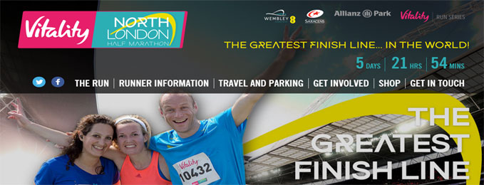 Vitality Half Marathon 20 March