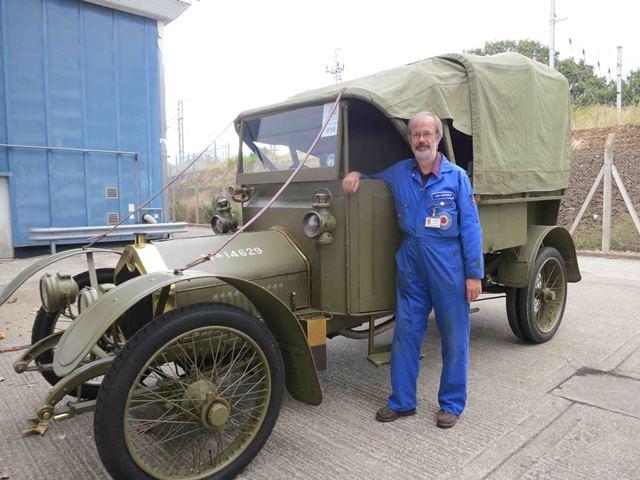 Ian Corfield with the  Museum's Crossley Tender