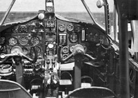 View of Airspeed Oxford cockpit