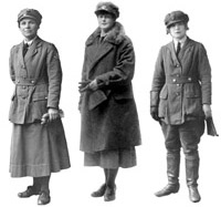 The first uniformed women's services established in 1917