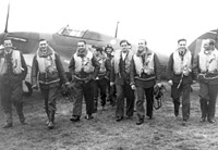 Pilots of 303 (Polish) Squadron, Leconfield, 1940