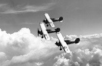 Gladiator fighters, from No 87 Squadron, practice for the Empire Air Day at RAF Debden